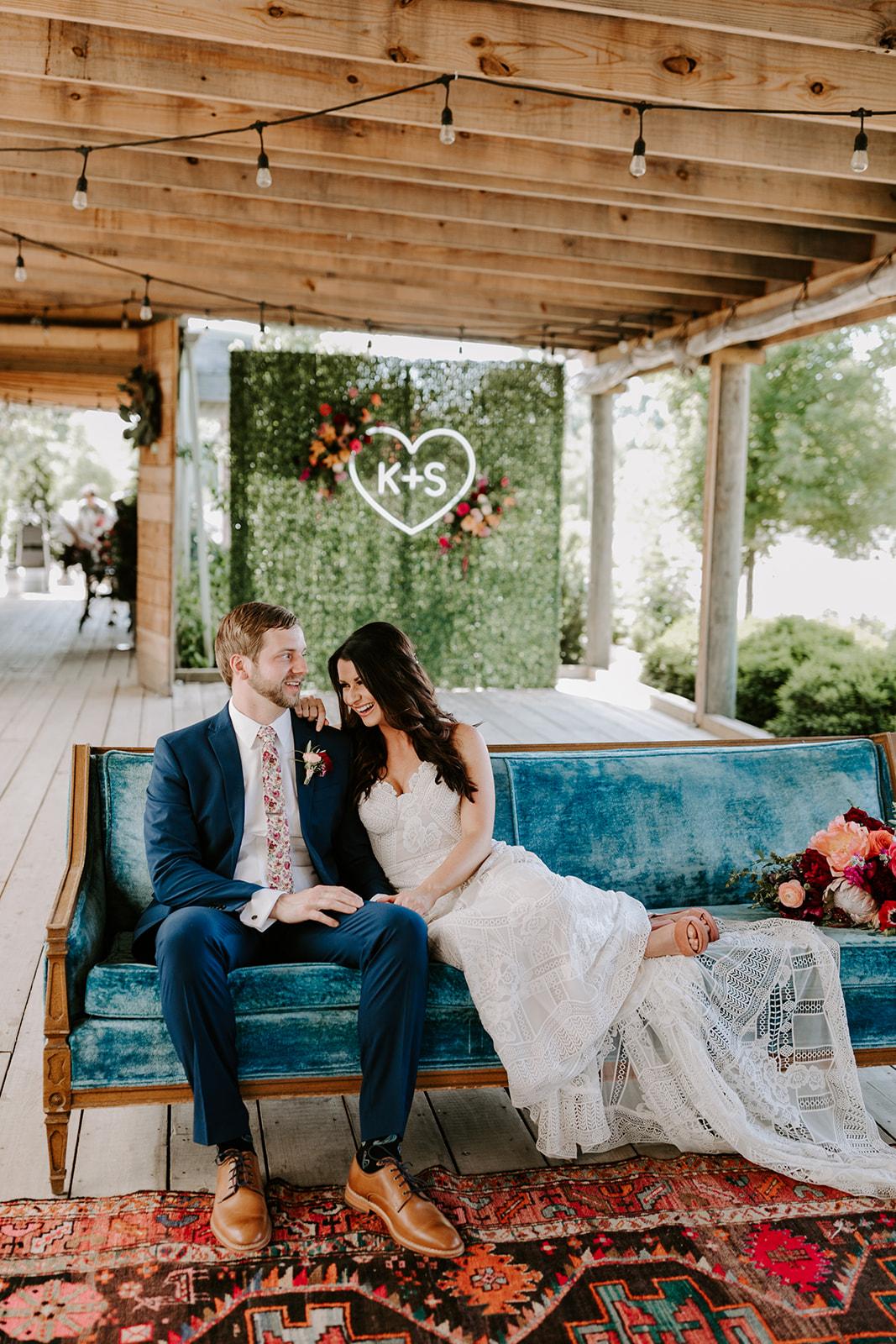 Boho Greenhouse Wedding at Long Hollow Gardens