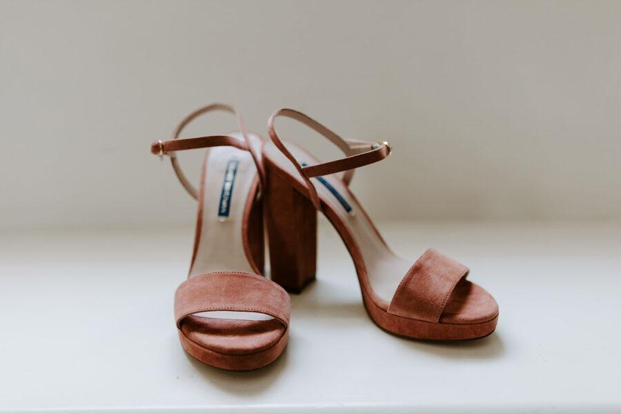Chunky bridal heels