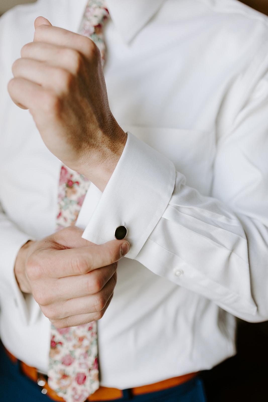 Black wedding cufflinks