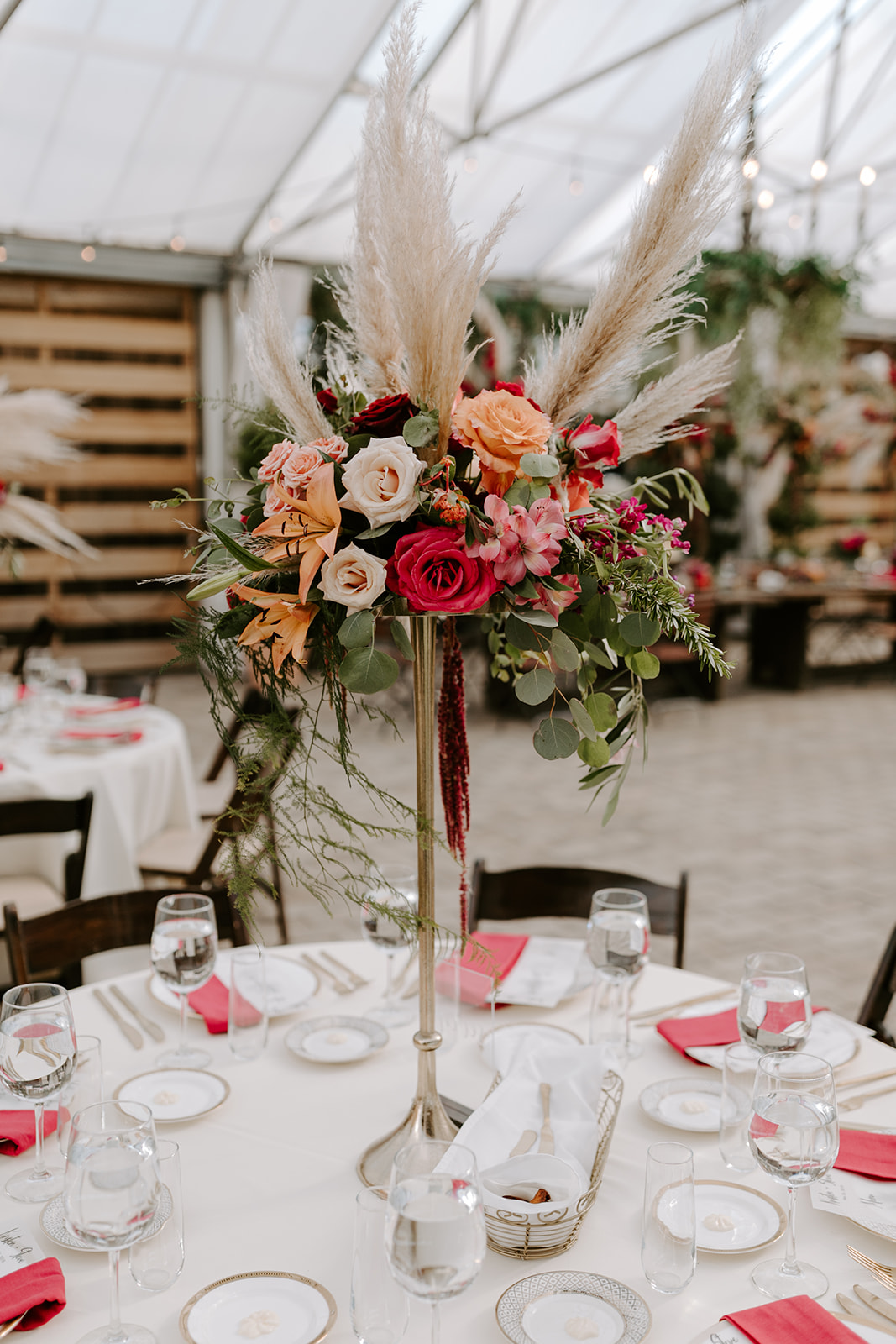 Bright colored wedding flowers