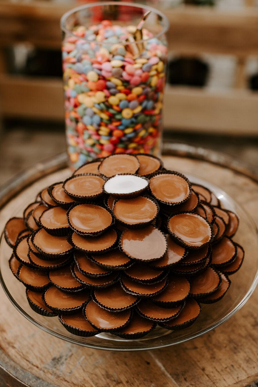 Wedding candy bar display