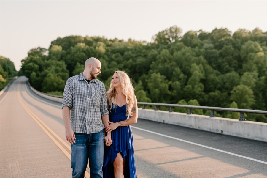 Scenic Engagement Session at Natchez Trace captured by Sara Bill Photography