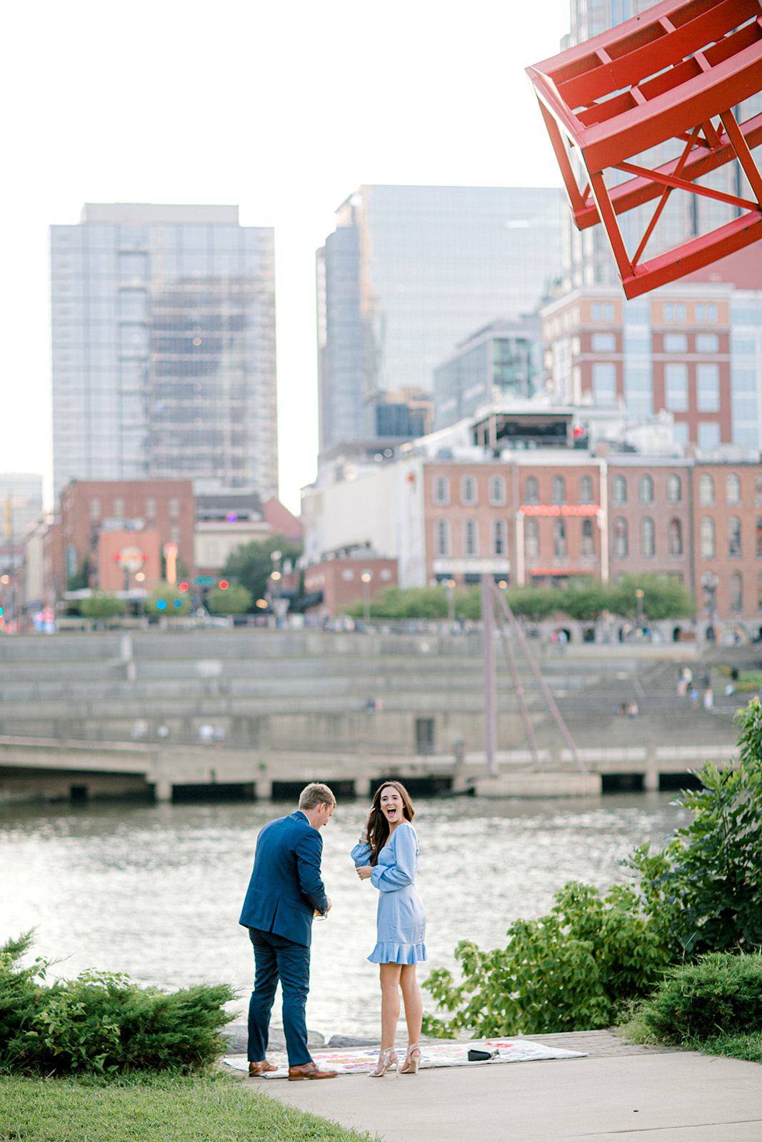 Surprise Downtown Nashville Proposal captured by Ashton Brooke Photography featured on Nashville Bride Guide