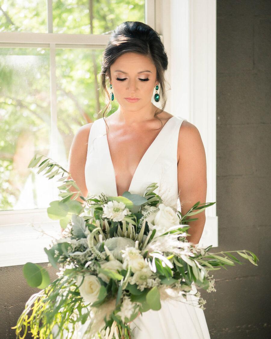 Greenery wedding bouquet: Travel Inspired Photo Shoot