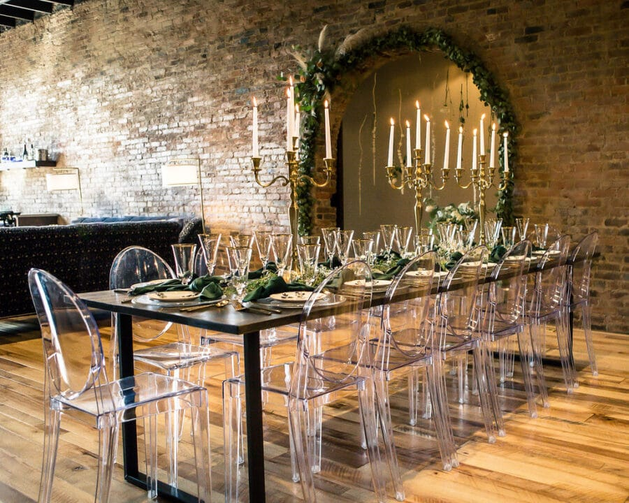 Modern clear wedding reception chairs: Travel Inspired Photo Shoot