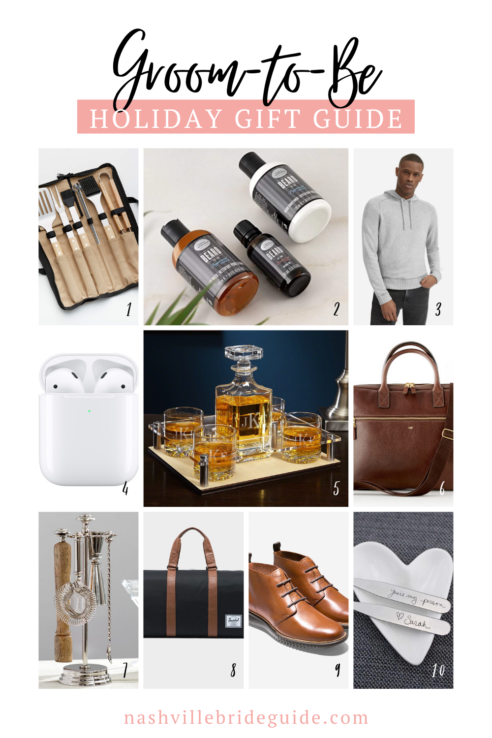 Groom to Be Holiday Gift Guide featured on Nashville Bride Guide