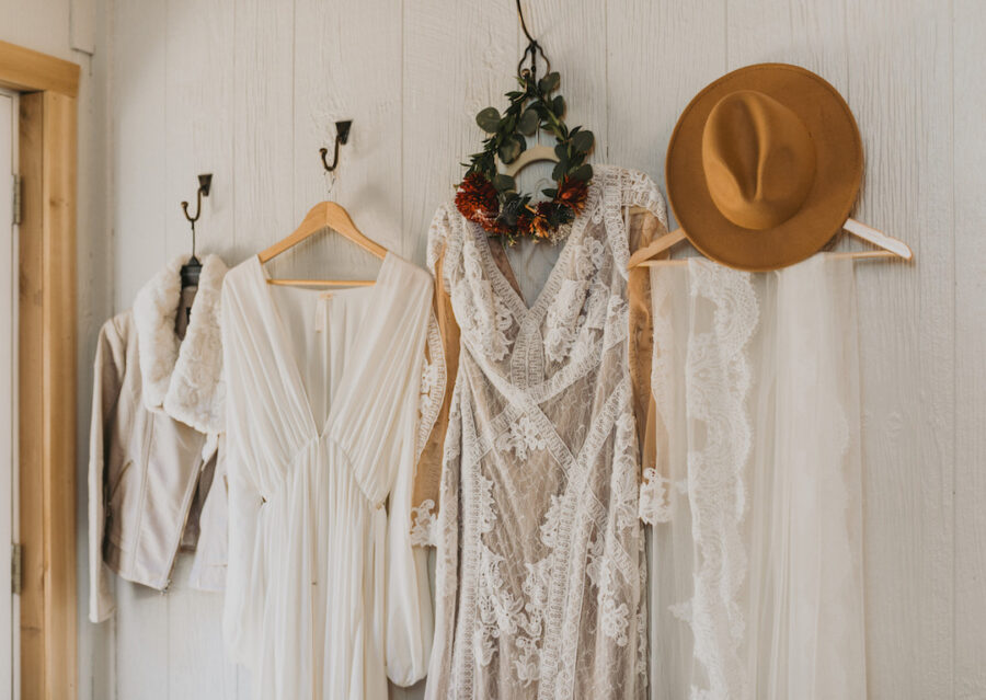 Boho Vintage Fall wedding attire