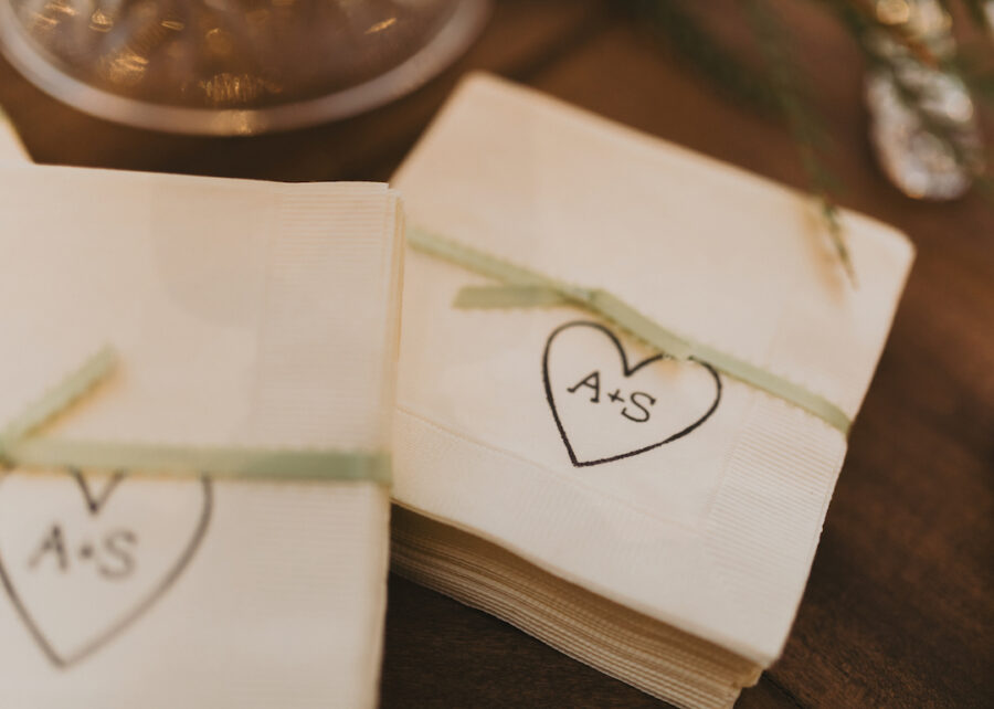 Personalized wedding details