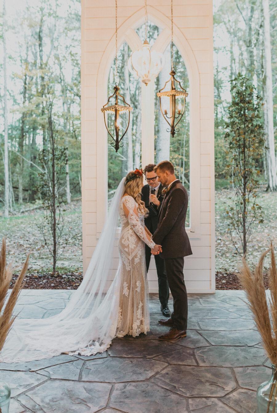 Semi outdoor wedding ceremony at Firefly Lane