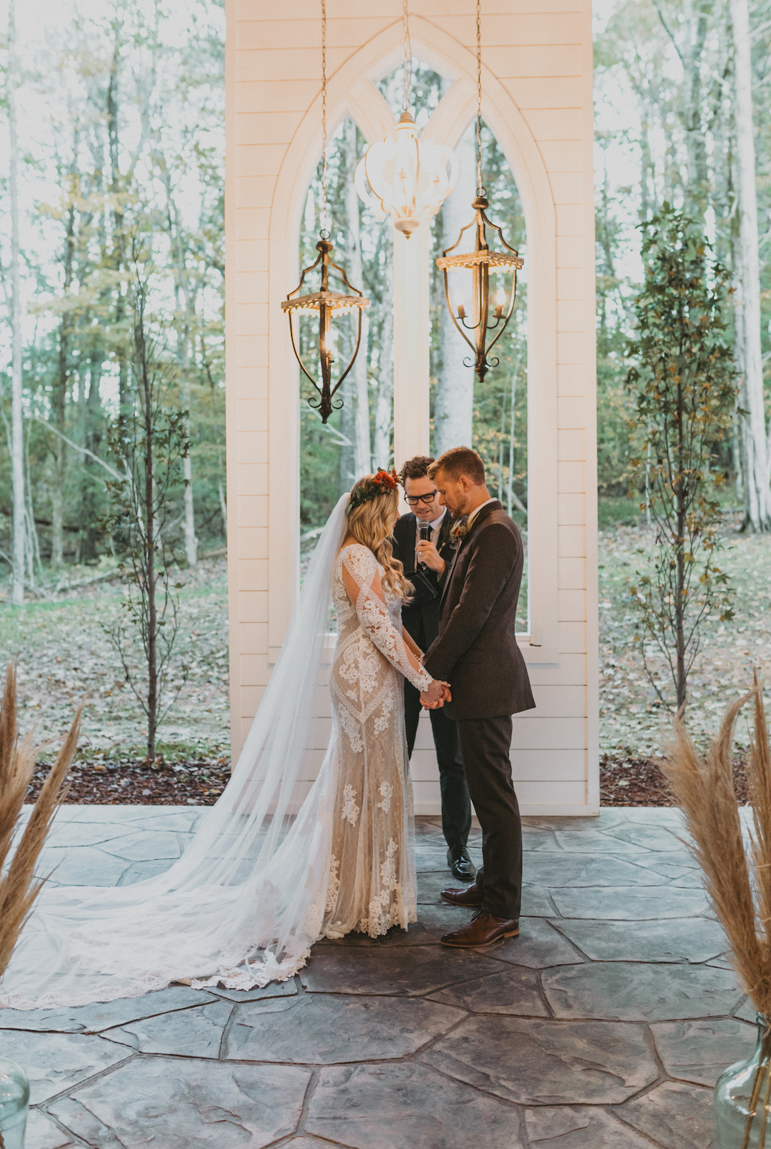 Semi outdoor wedding ceremony at Firefly Lane