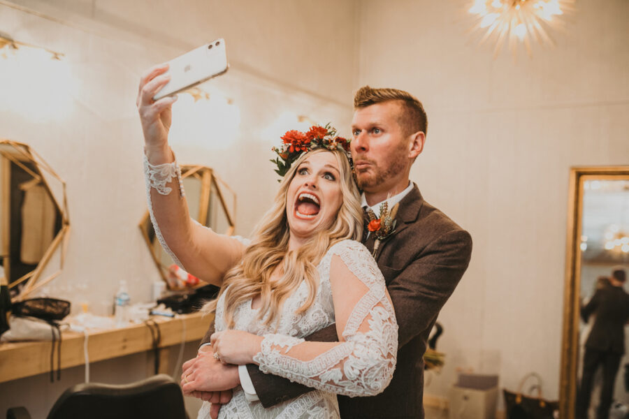 Candid wedding photo by Black Mountain