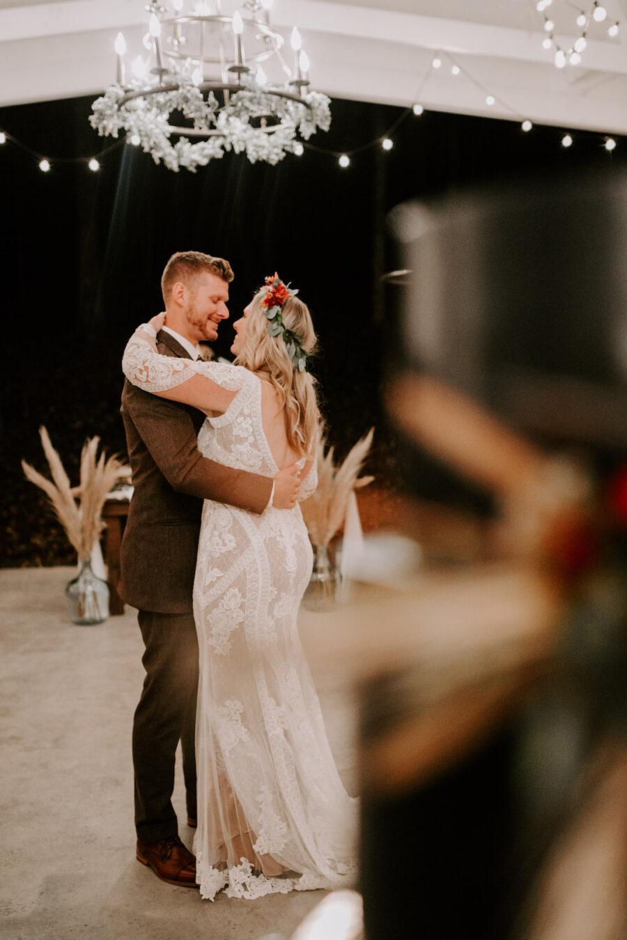 Wedding first dance at Firefly Lane
