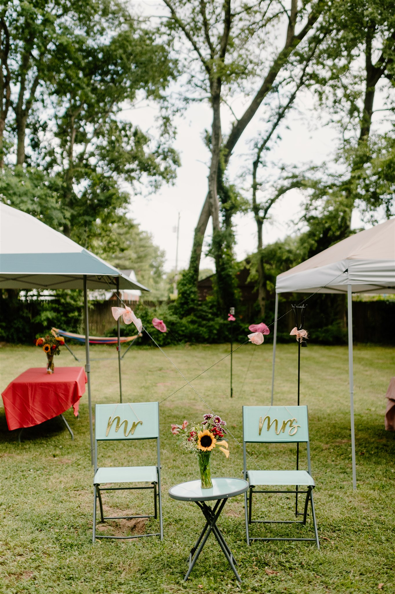 Mr. and Mrs. wedding chairs