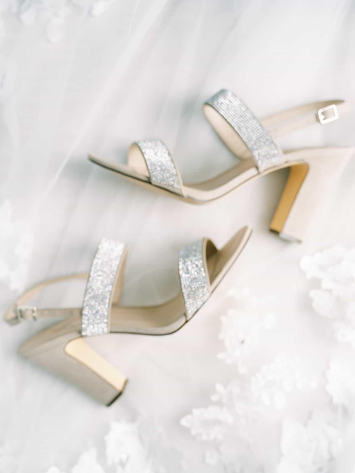 Sparkly silver wedding shoes | Nashville Bride Guide