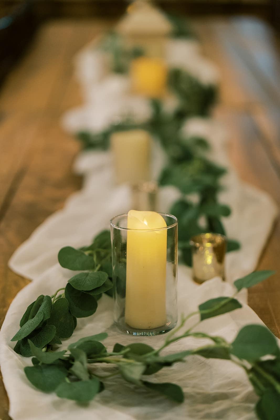 Eucalyptus and greenery wedding candles | Nashville Bride Guide