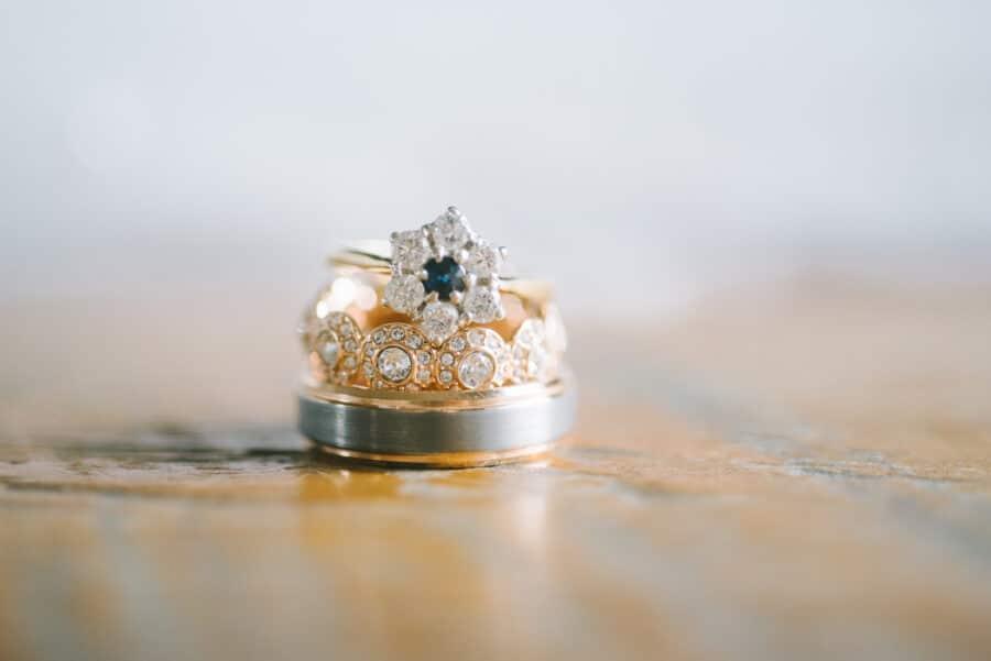 Blue diamond vintage engagement ring | Nashville Bride Guide