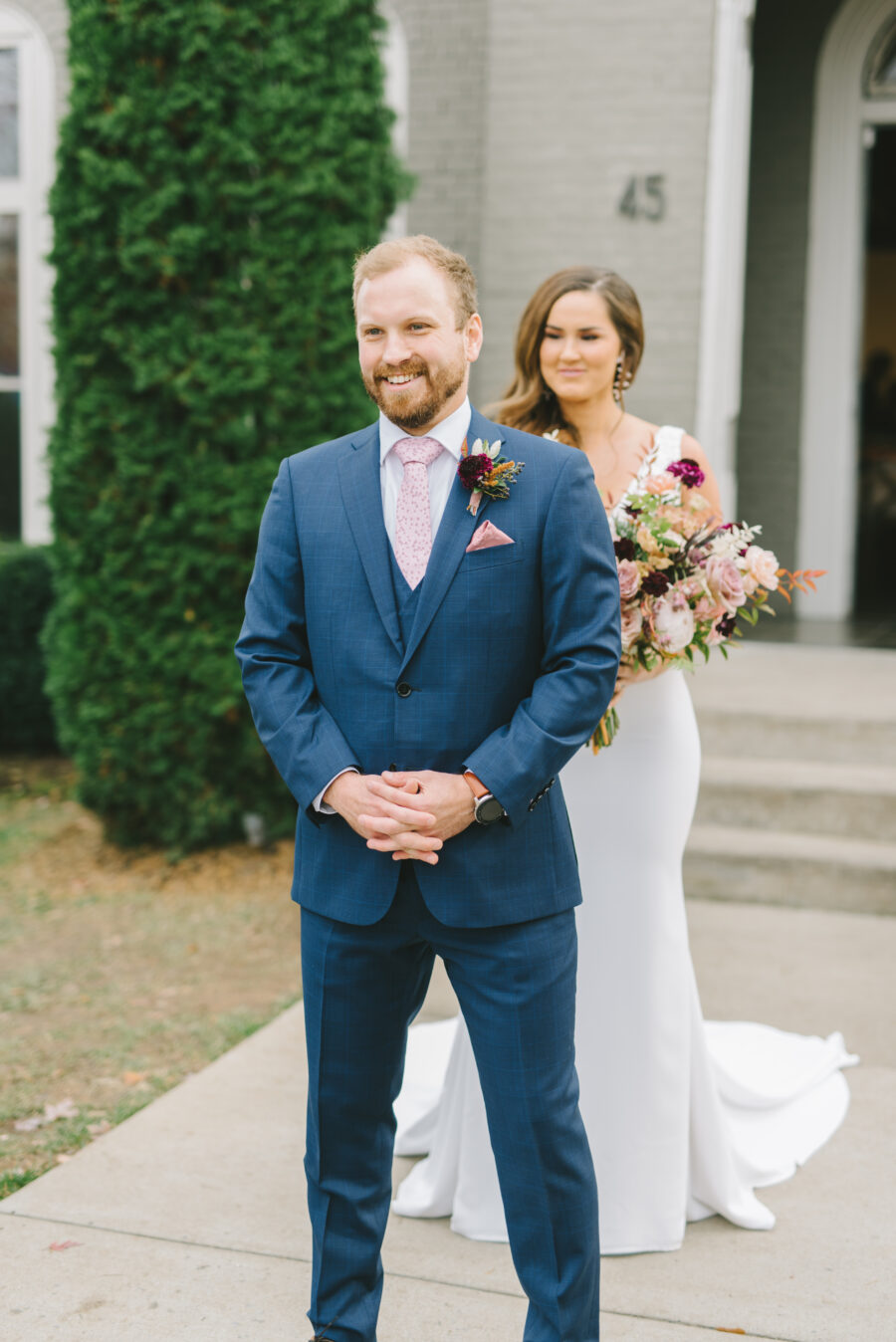 Wedding first look at The Cordelle | Nashville Bride Guide