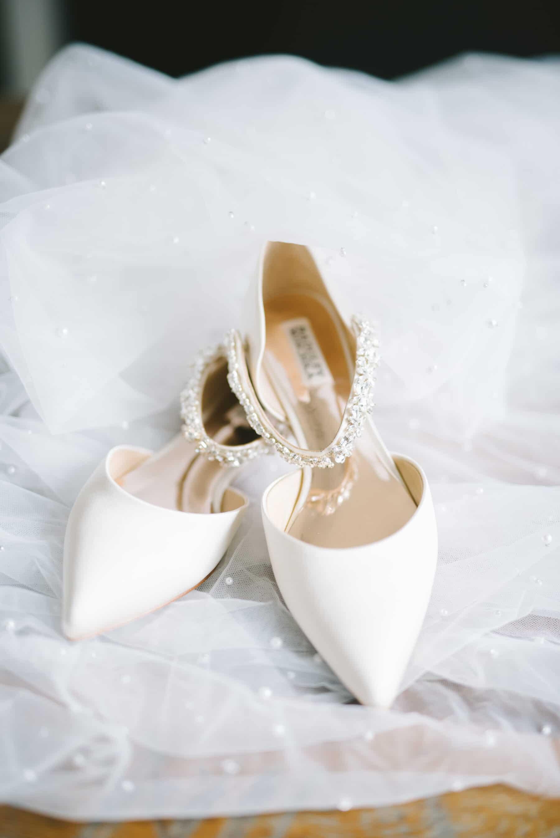 Flat Pointed Badgley Mischka Wedding Flats | Nashville Bride Guide