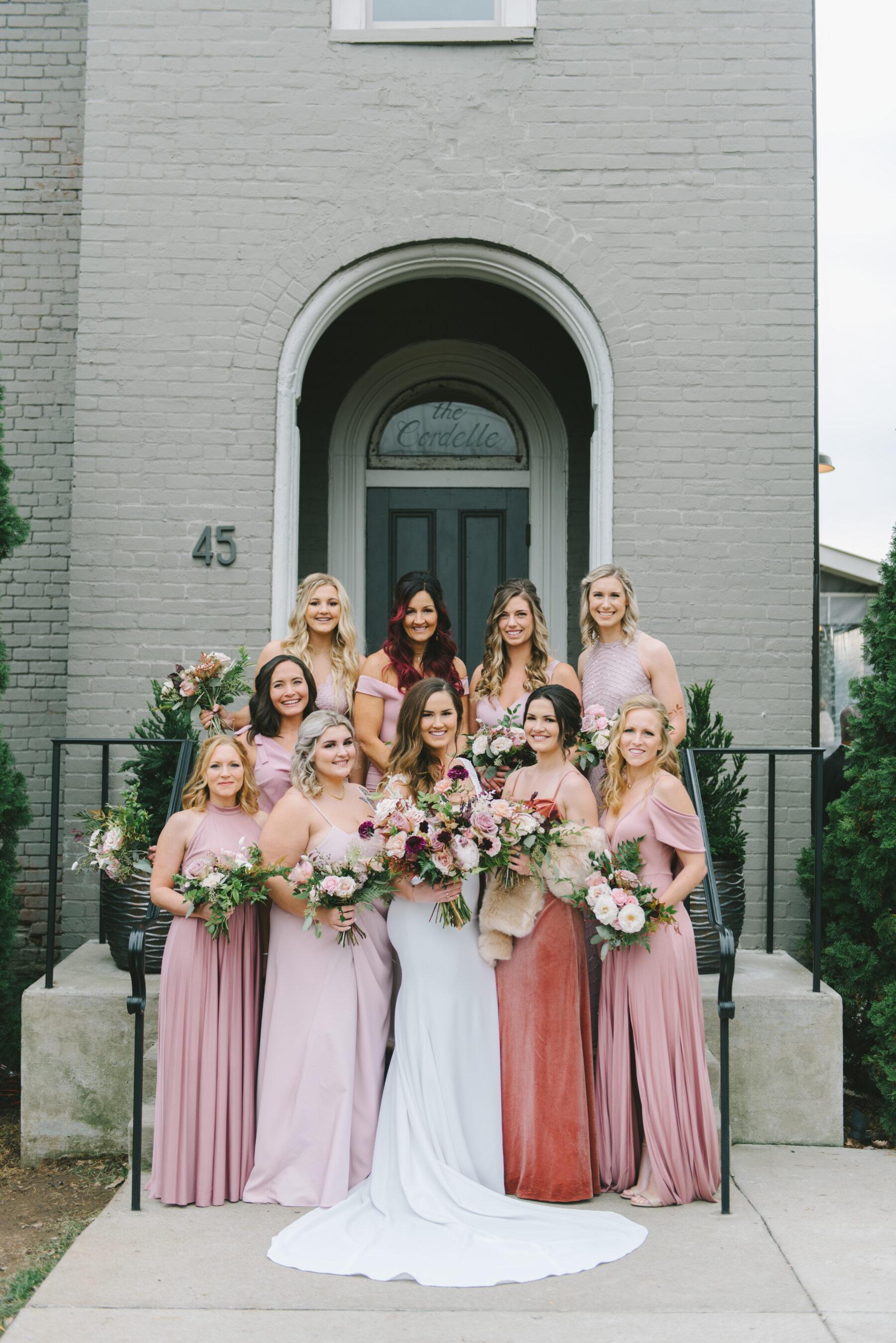 Shades of Pink Bridesmaid Dresses | Nashville Bride Guide
