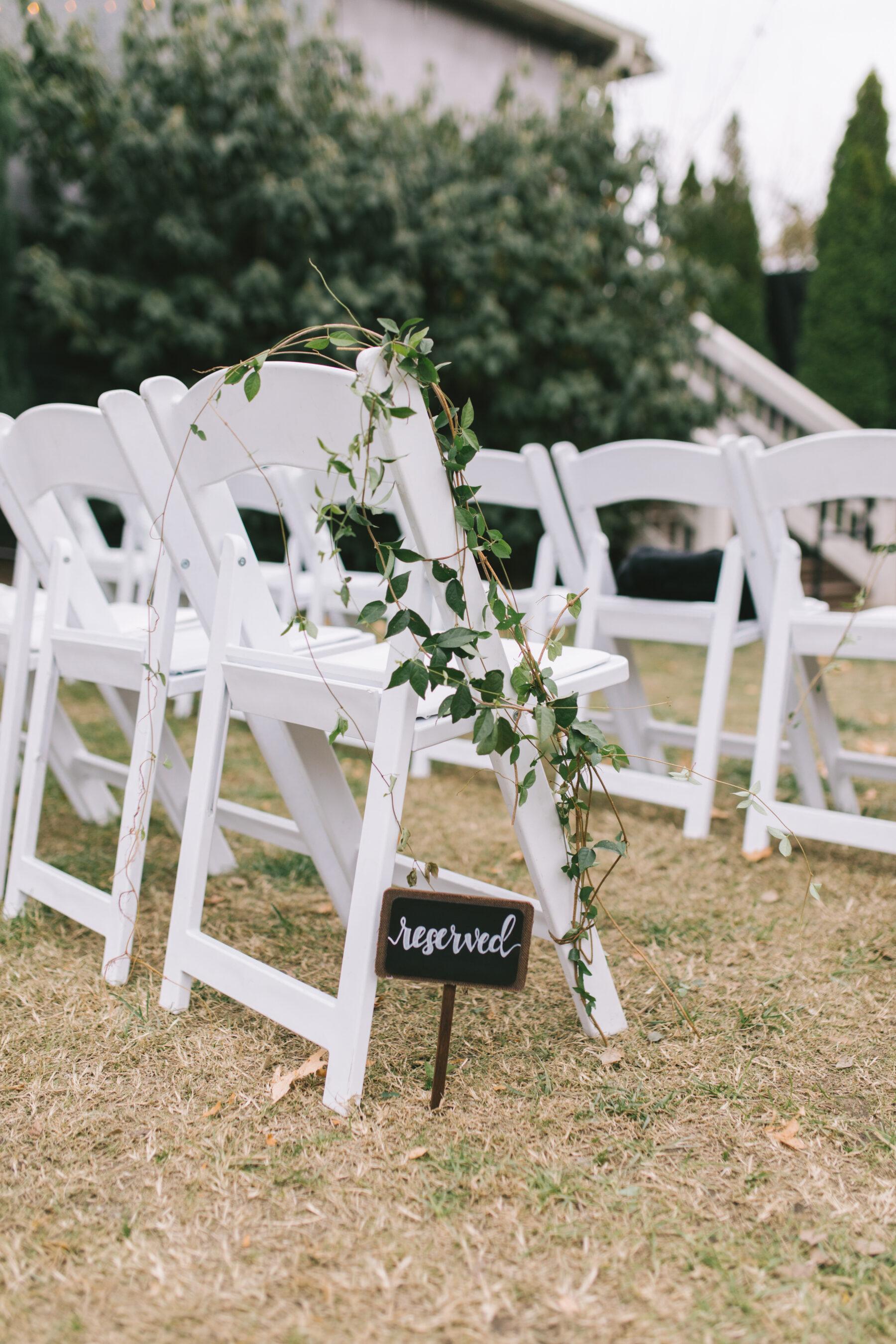 Reserved wedding ceremony sign | Nashville Bride Guide