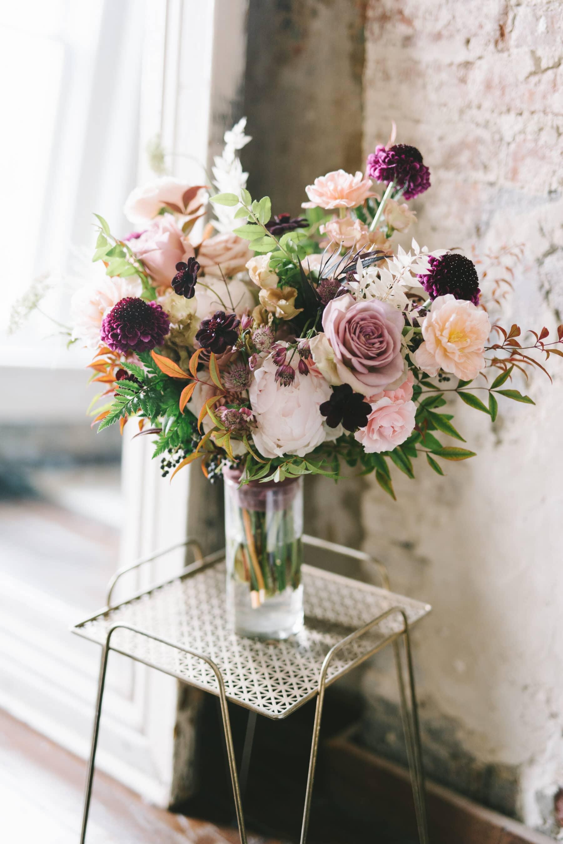 Mauve and Burgundy Wedding Bouquet | Nashville Bride Guide