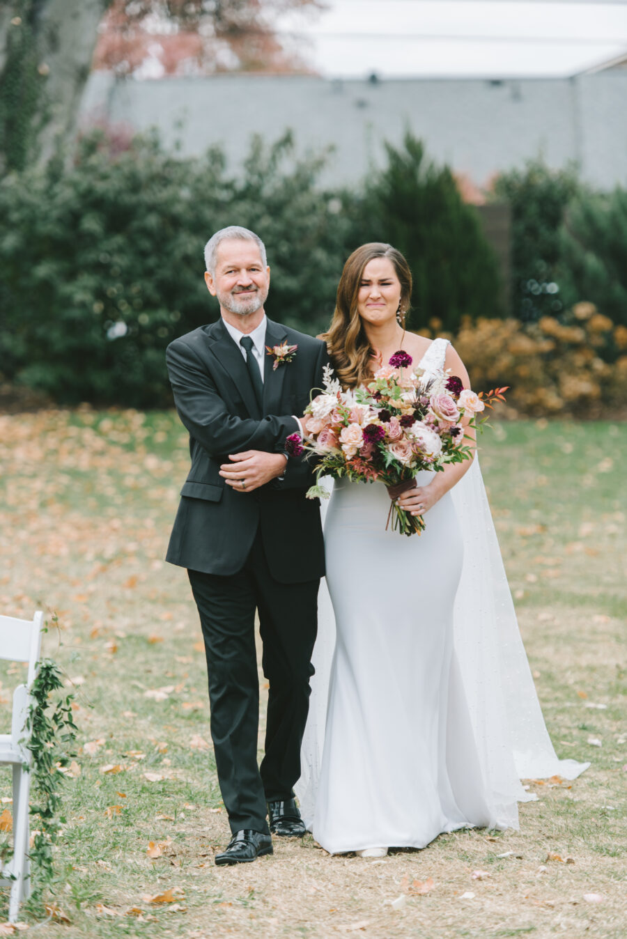 Father escorting his daughter down the aisle | Nashville Bride Guide