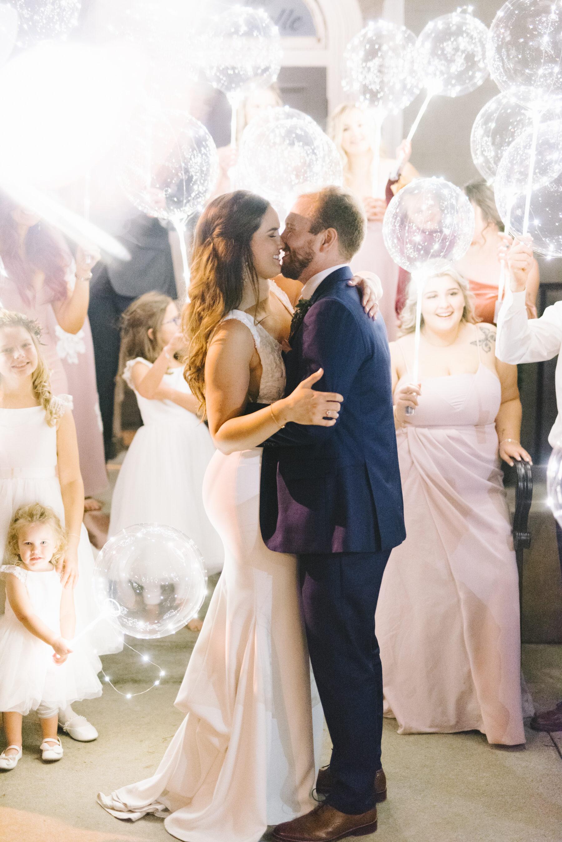 Glowing Wedding Balloon Exit | Nashville Bride Guide