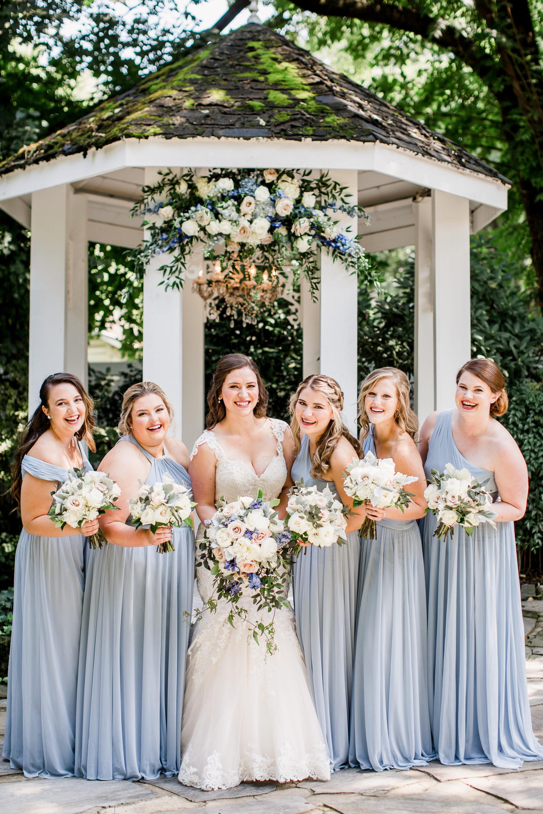 Dusty Blue Bridesmaids Dresses | Nashville Bride Guide