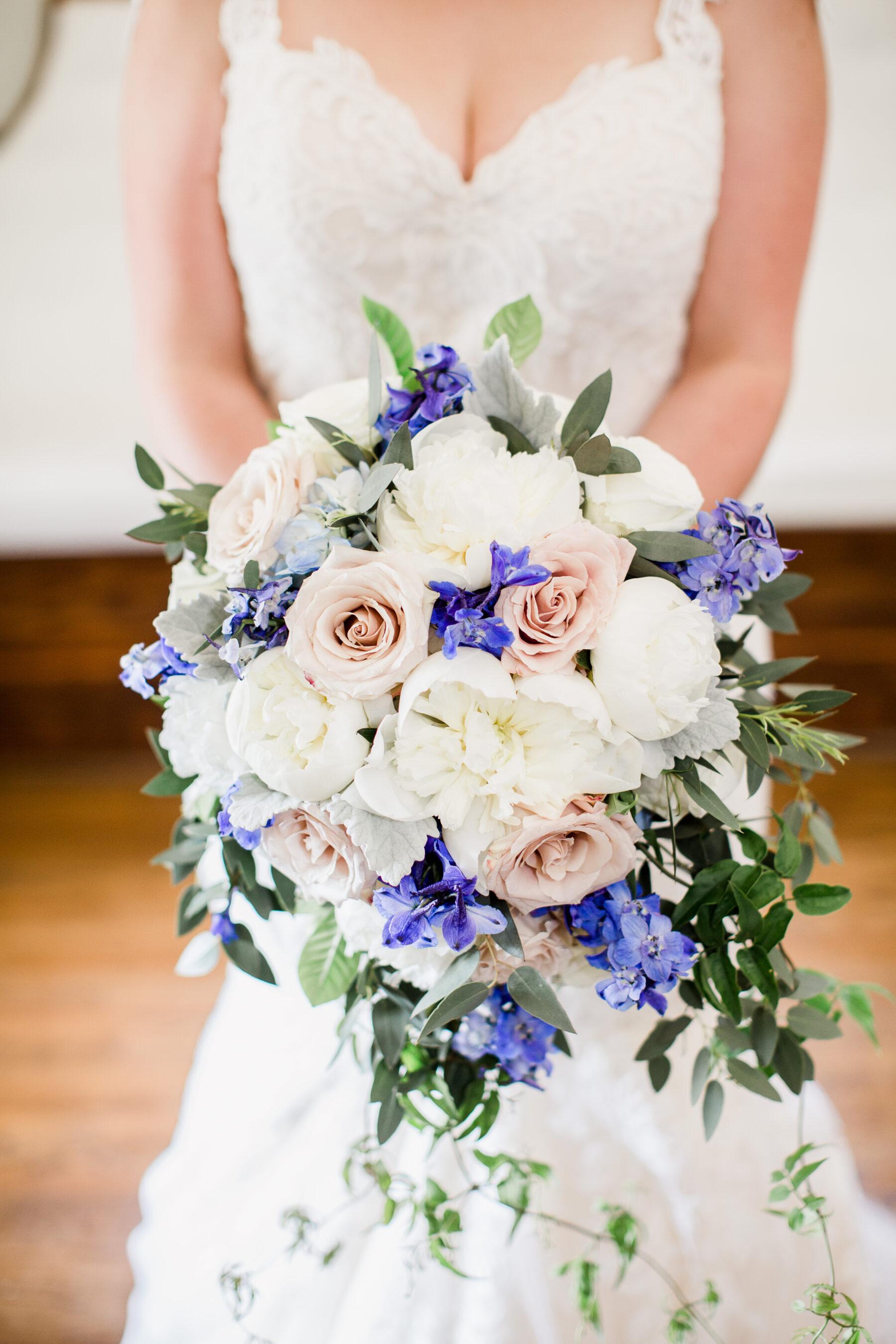 Enchanted Florist Wedding Bouquet Romantic Garden Wedding at CJ's Off the Square | Nashville Bride Guide