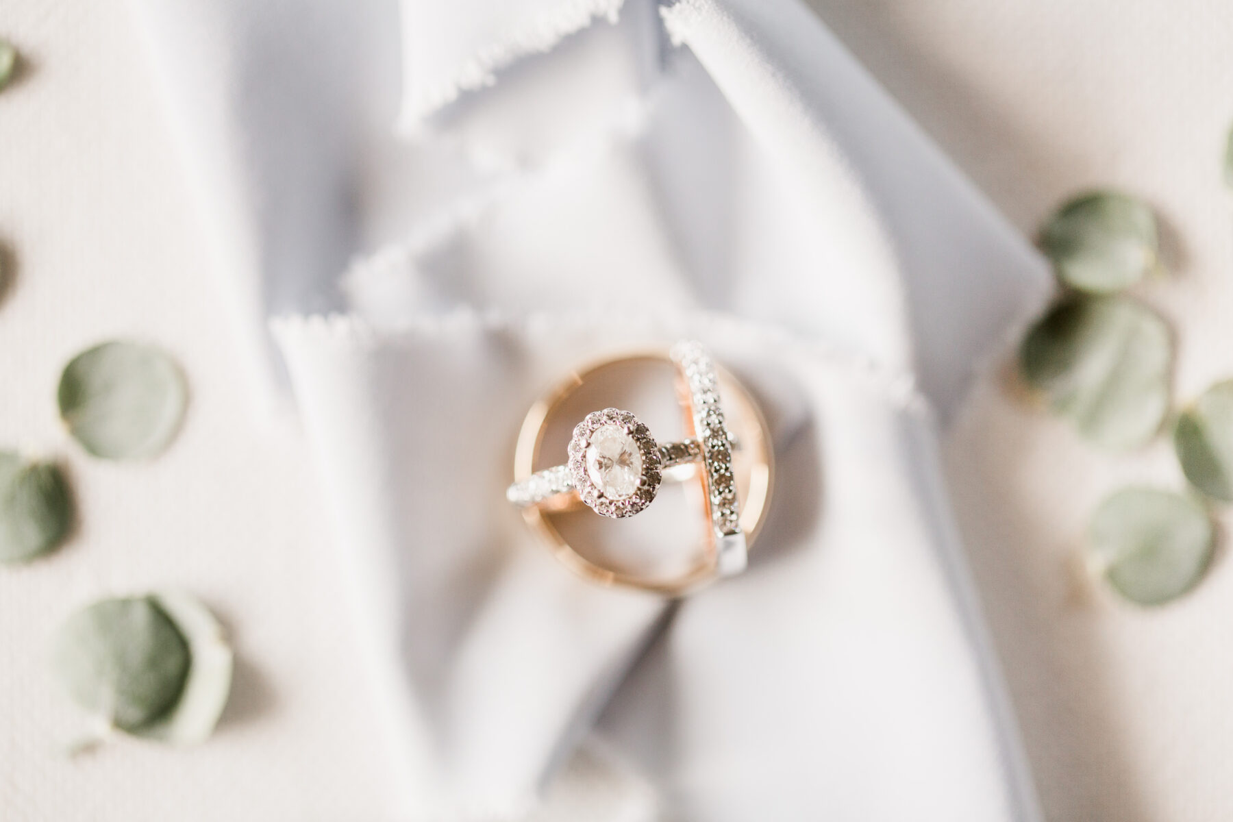 Oval Halo Engagement Ring and Wedding Bands | Nashville Bride Guide