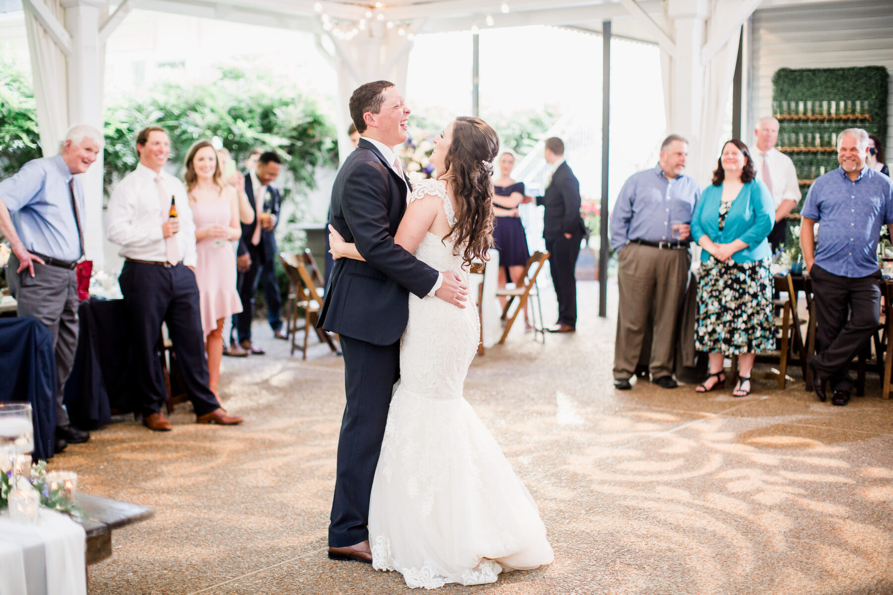 Wedding first dance at CJ's Off the Square | Nashville Bride Guide
