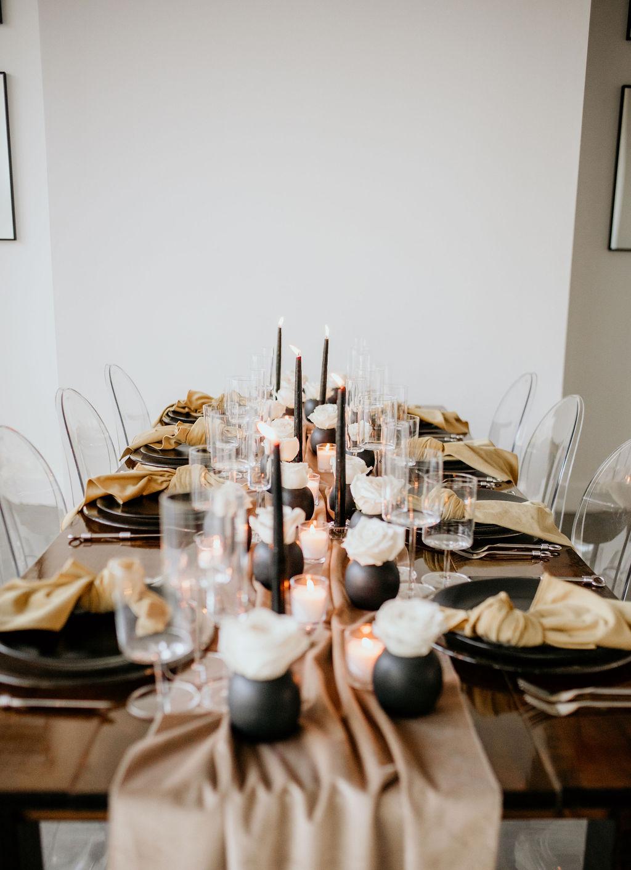 Contemporary wedding table design