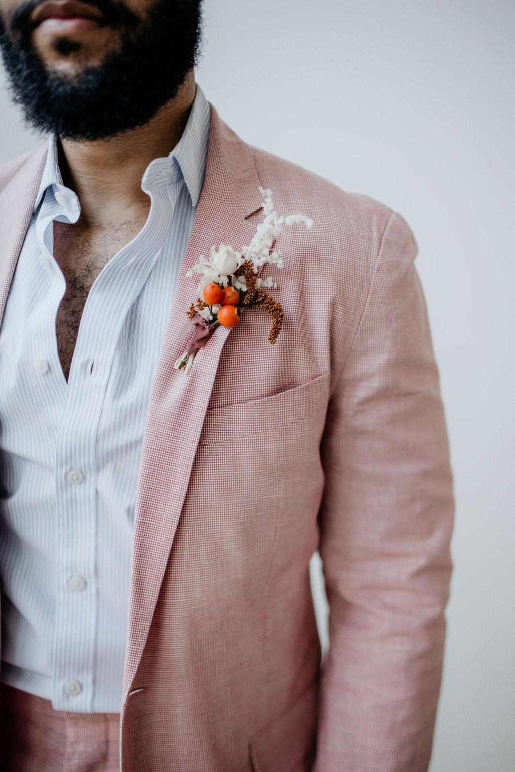 Stella Rose Floral unique wedding boutonniere