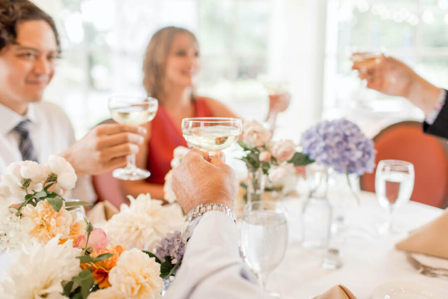 Light and airy wedding rehearsal dinner decor | Nashville Bride Guide