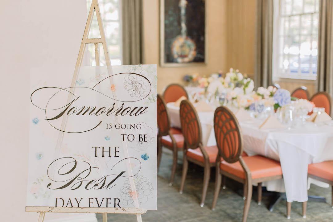 Rehearsal dinner welcome sign | Nashville Bride Guide