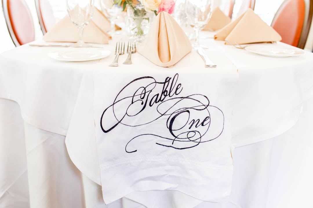 Rehearsal Dinner Table Numbers | Nashville Bride Guide