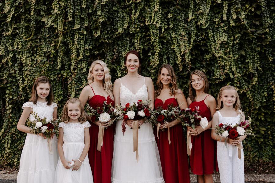 Red bridesmaid dresses   Nashville Bride Guide
