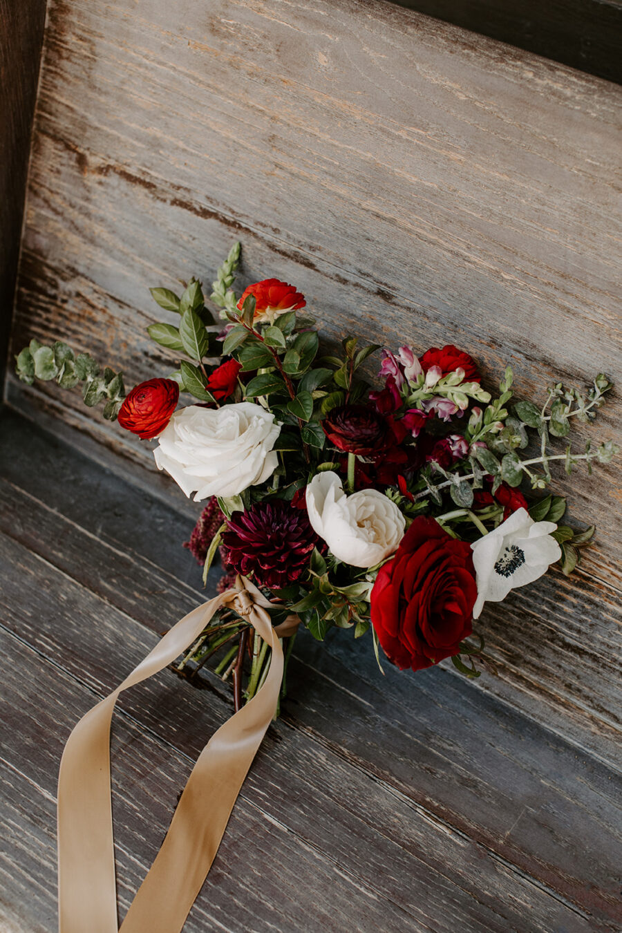 Red and white wedding bouquet   Nashville Bride Guide