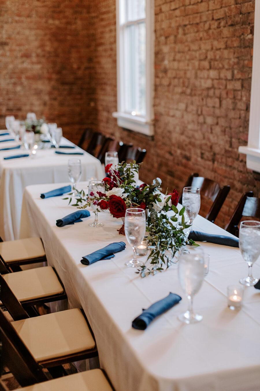 Navy and red wedding decor   Nashville Bride Guide   Franklin Tennessee Wedding