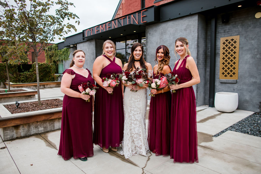 Red bridesmaids dresses | Nashville Bride Guide