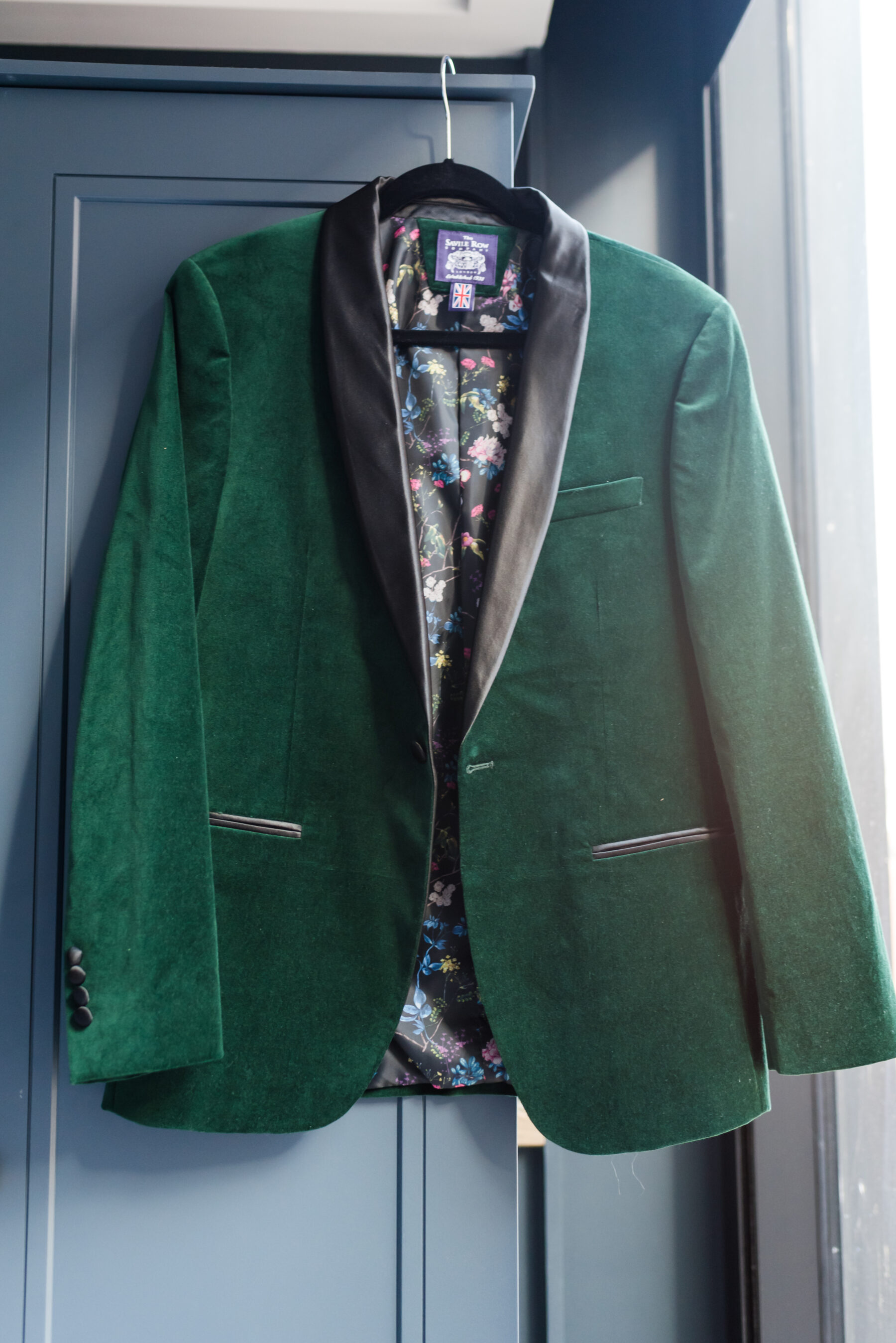 Green wedding suit jacket