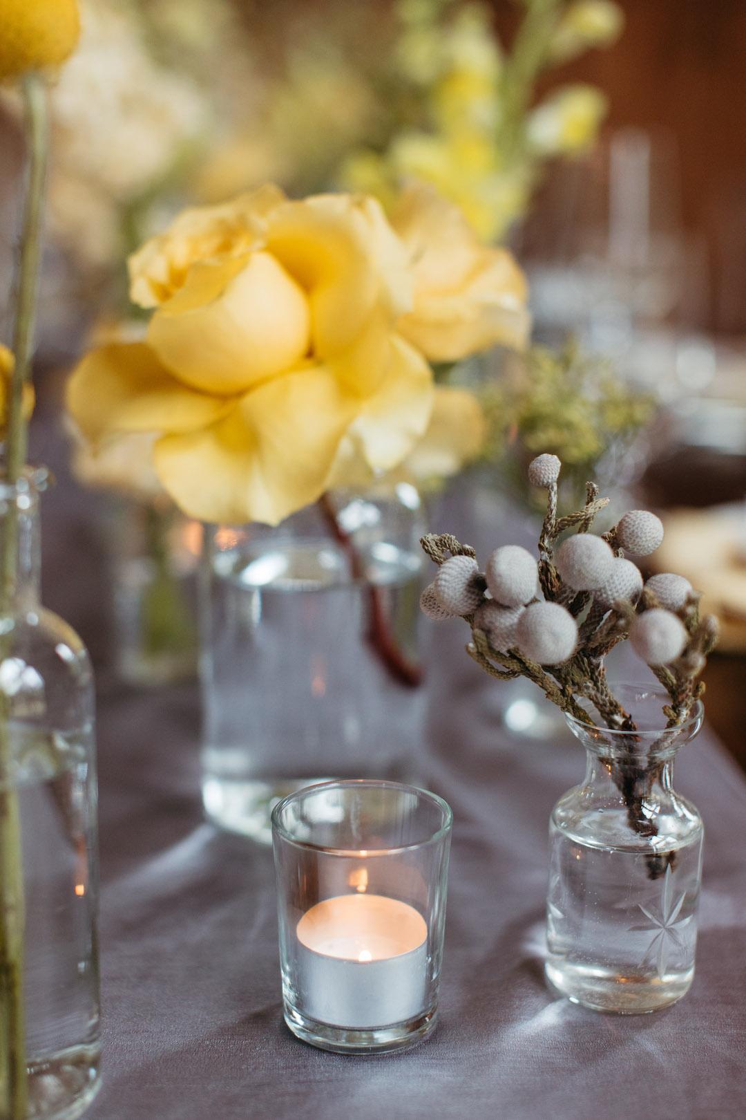 Gray and yellow wedding centerpieces | Nashville Bride Guide