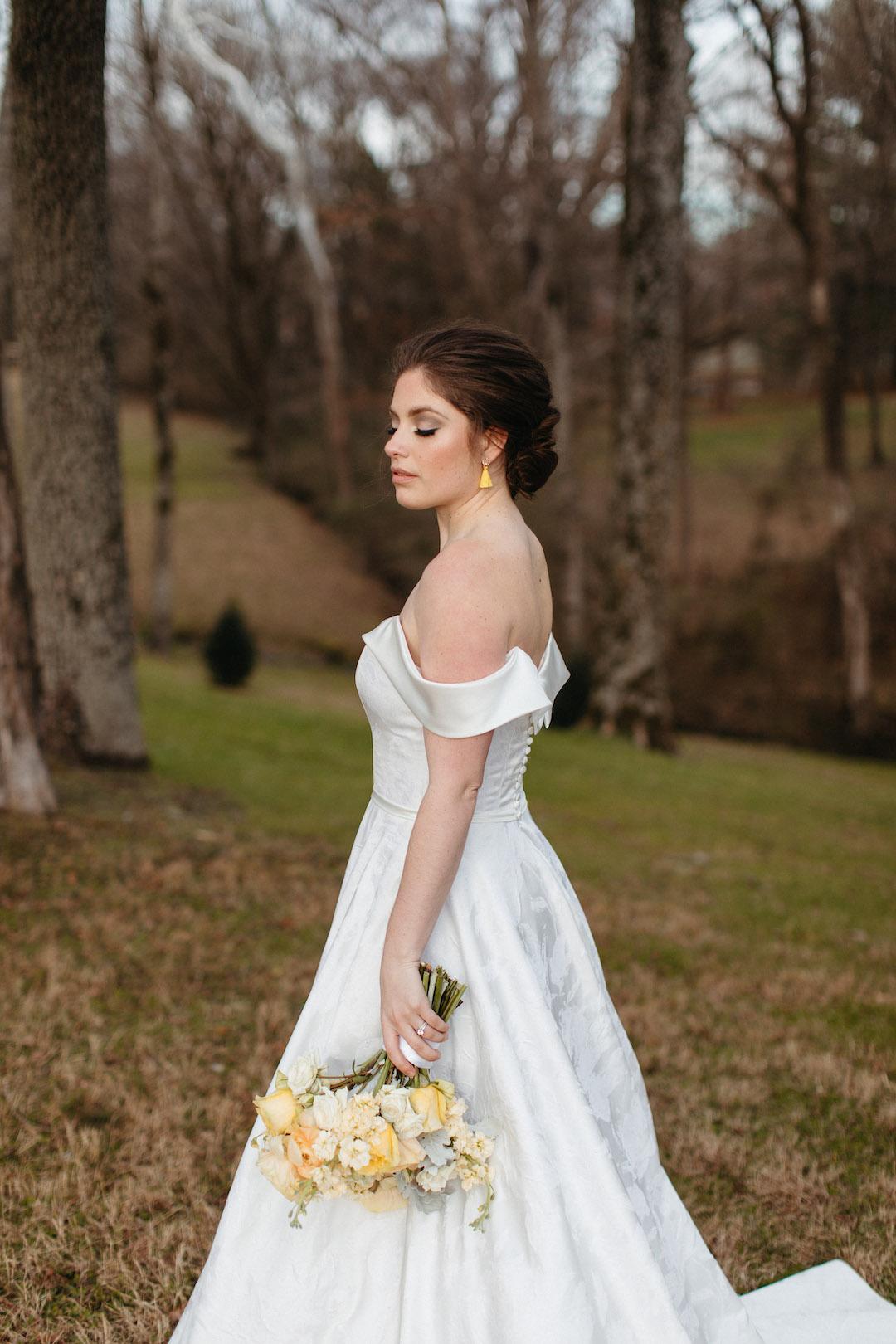 Off the shoulder wedding dress | Nashville Bride Guide