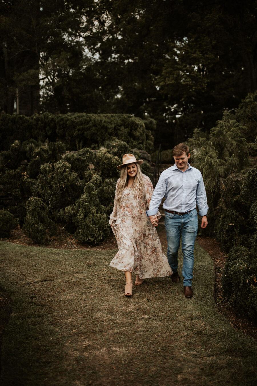 Garden Engagement Session captured by Sydney Lauren Photography | Nashville Bride Guide