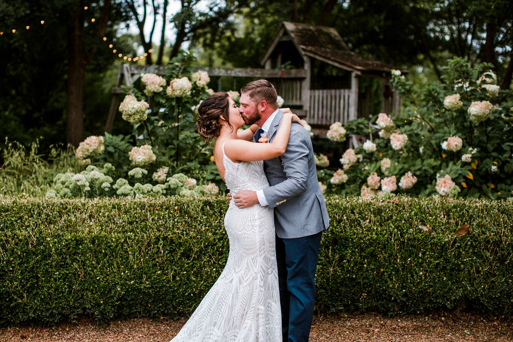 Wedding first look captured by John Myers Photography | Nashville Bride Guide