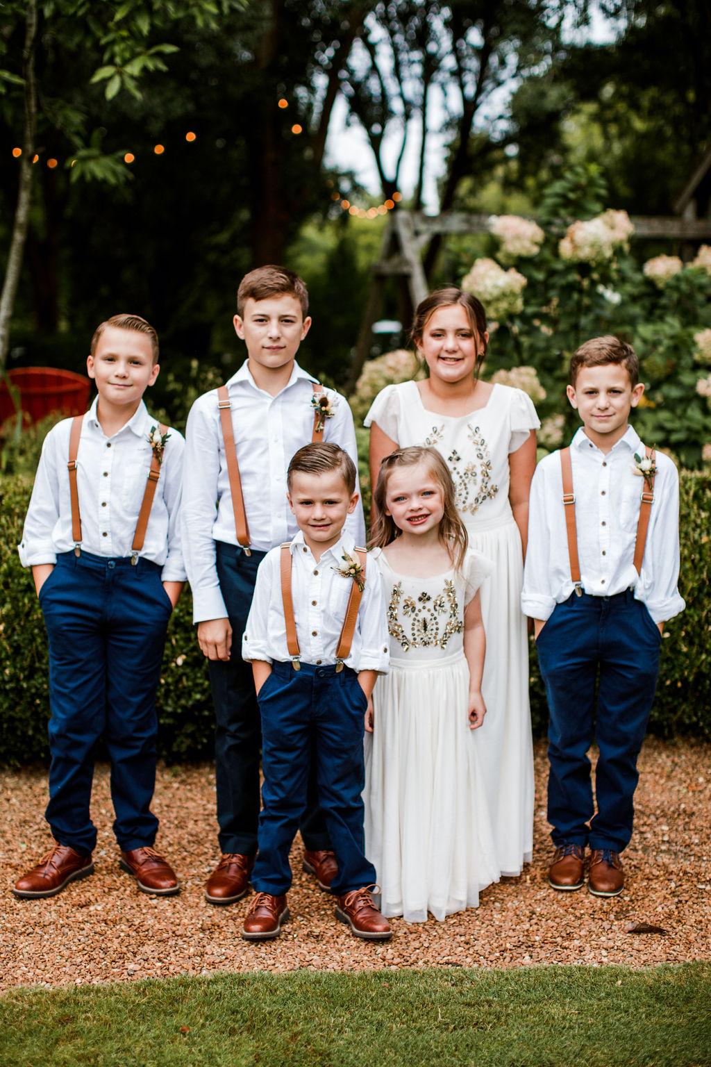 Boho wedding flower girls and ring bearer | Nashville Bride Guide