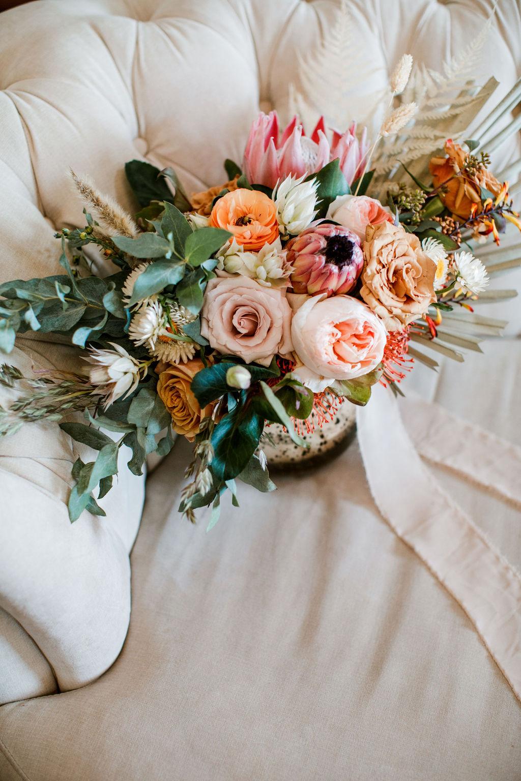 Bright colored boho wedding bouquet | Nashville Bride Guide