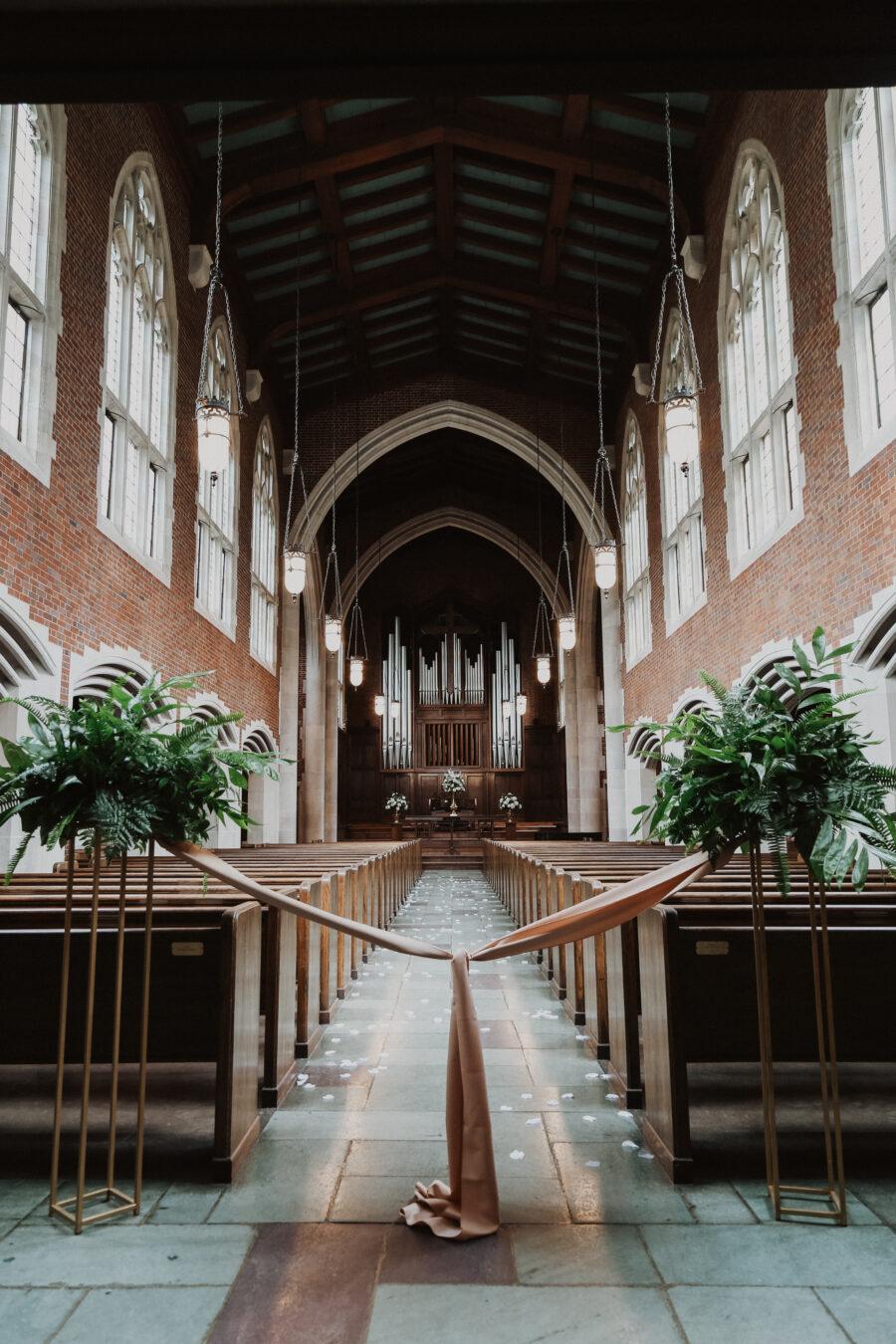 The Scarritt Bennett Center wedding ceremony   Regal Inspired Wedding at The McConnell House   Nashville Bride Guide