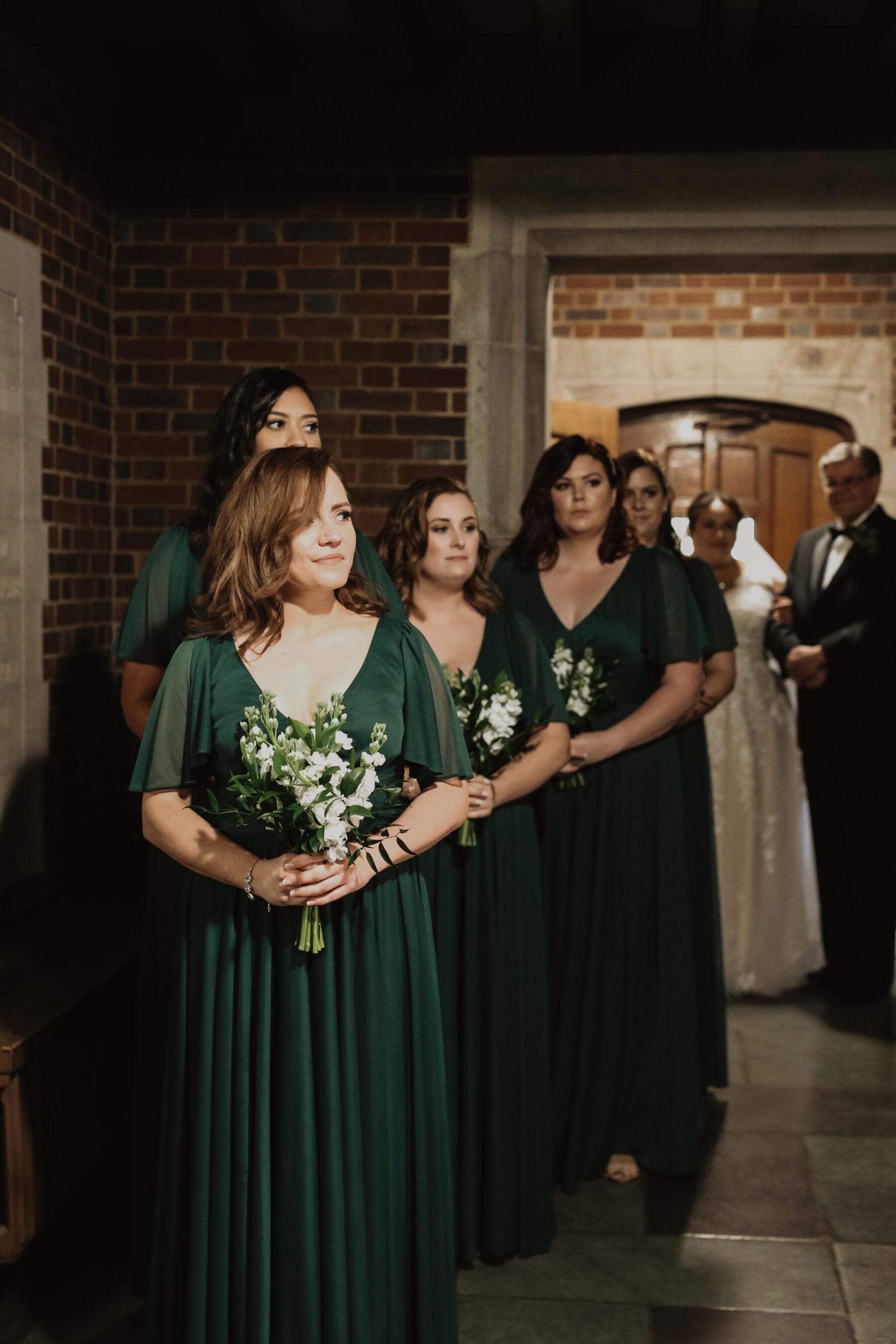 Emerald green bridesmaid dresses | Nashville Bride Guide