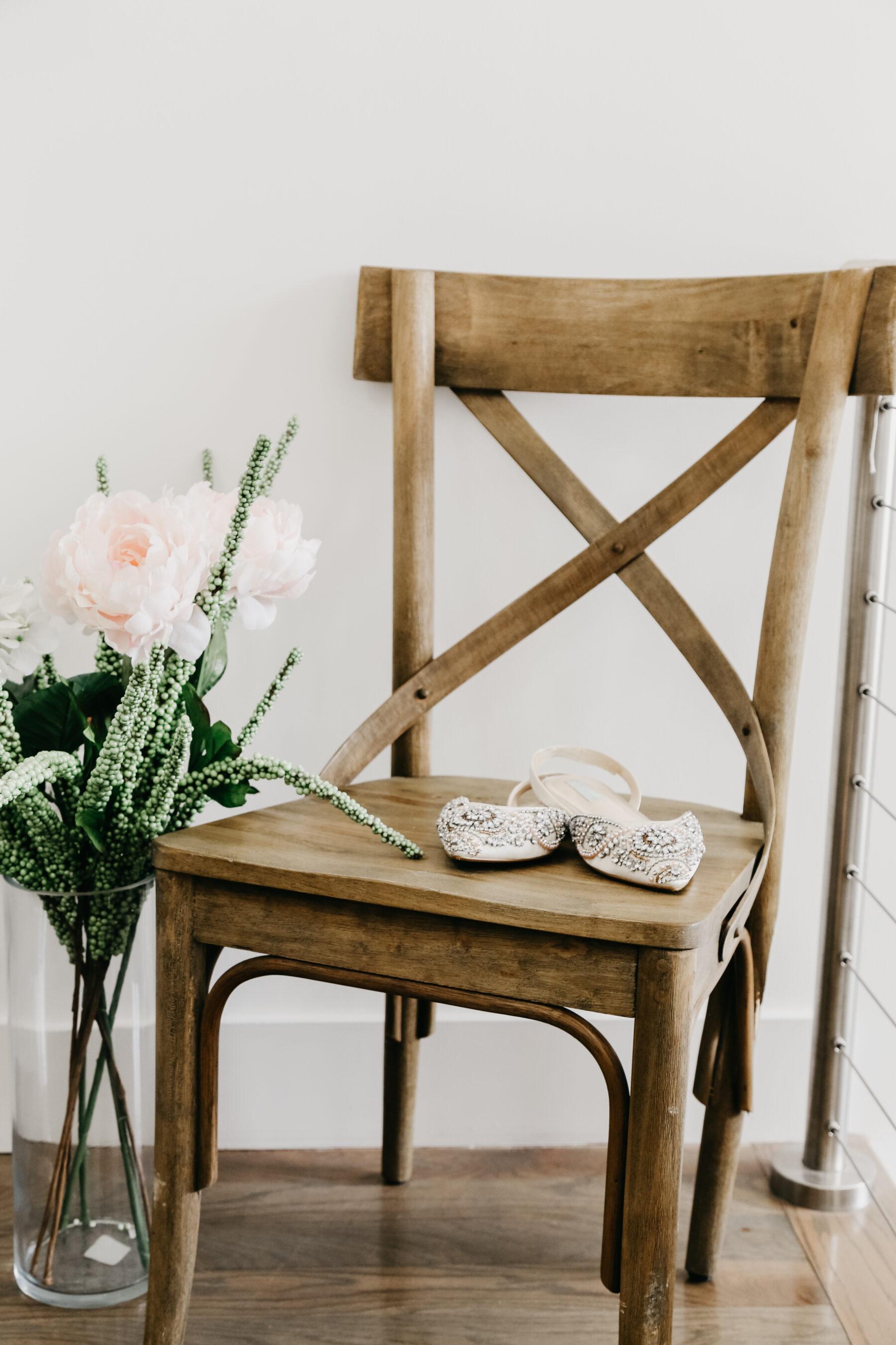 Flat pointed embellished bridal shoes | Nashville Bride Guide